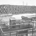 Puente ferrocarril Bilbao Portugal circa 1910