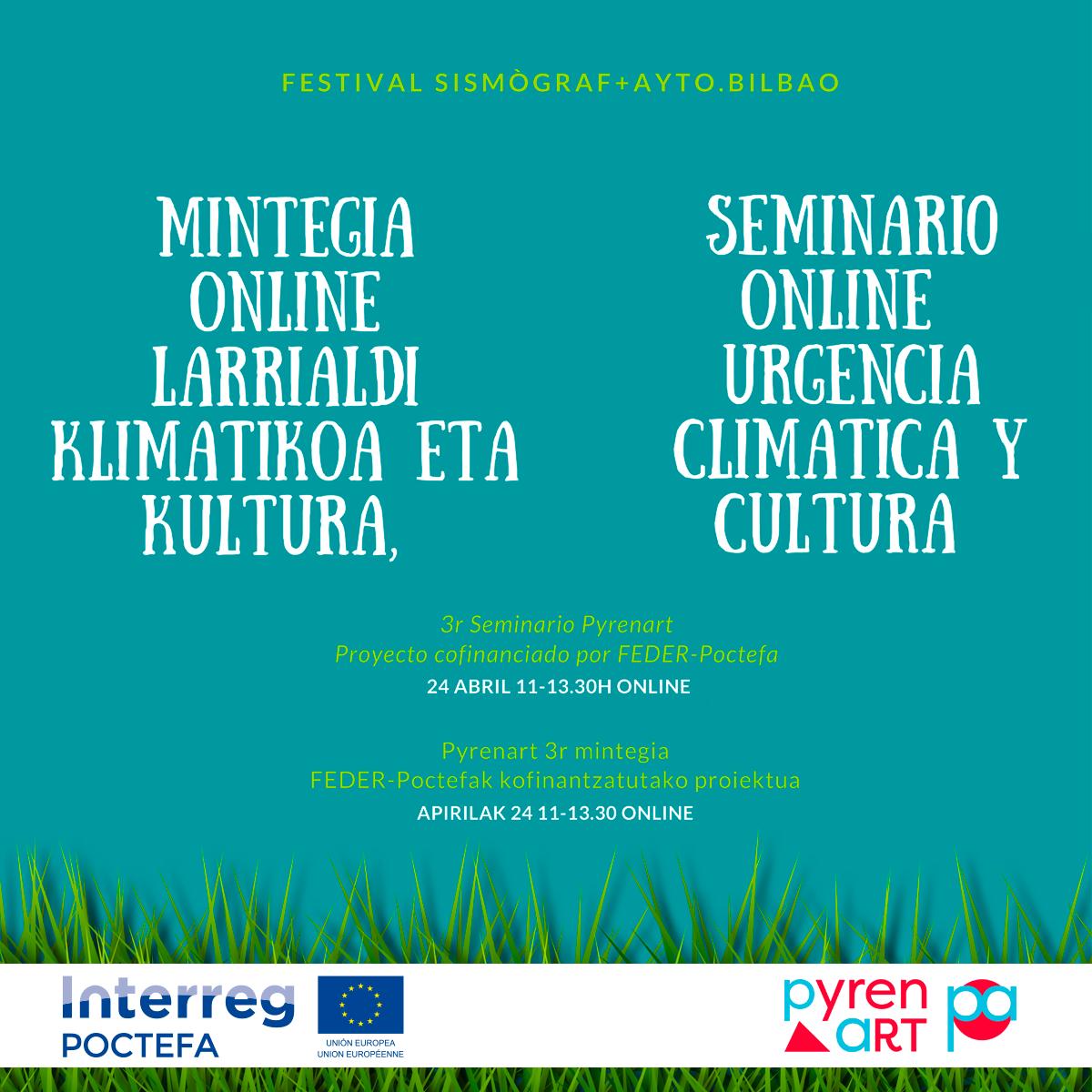 SEMINARIO ONLINE 'URGENCIA CLIMÁTICA Y CULTURA'