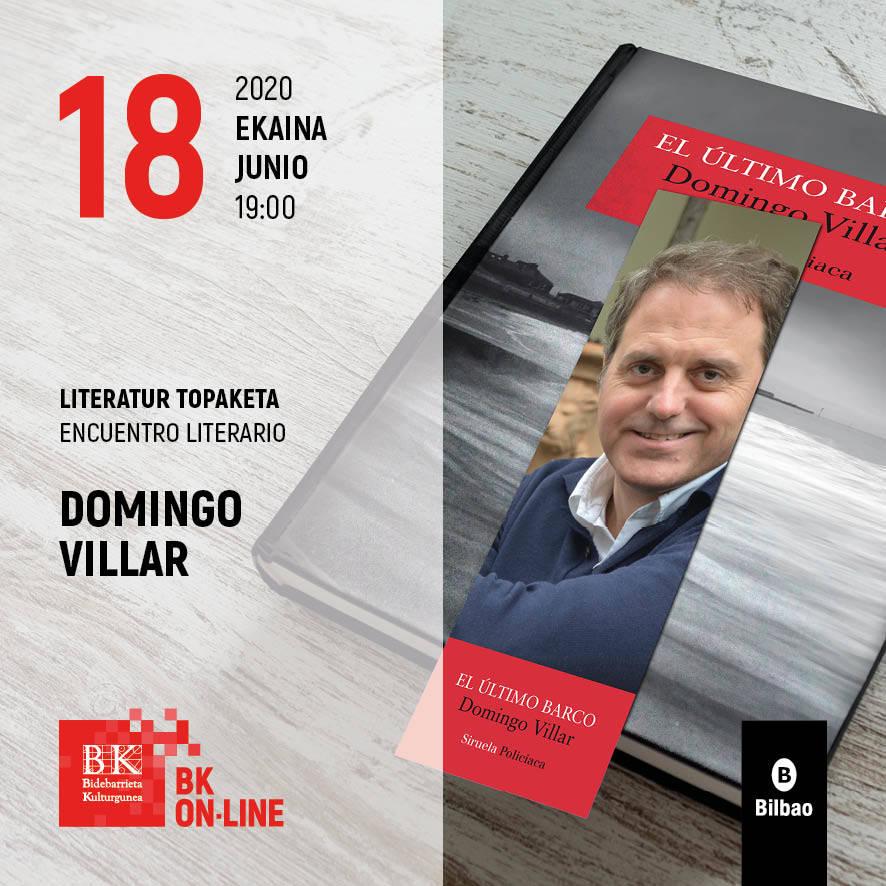 Encuentro literario con Domingo Villar